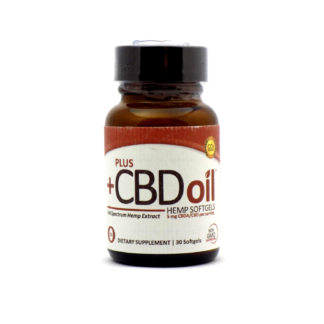 Plus CBD Oil Full Spectrum Raw 5mg CBD/CBDA, 60 Vegetarian